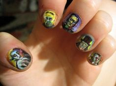 Nails of the day -- Talk about nail art. It took Cammi Upton three hours and tons of dedication to create this mind blowing art work. The detail is amazing! Great job.