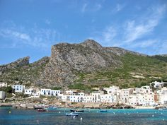 #Favignana The Aegadian Islands meaning 'the islands of goats' are a group of small mountainous islands in the Mediterranean Sea off the northwest coast of Sicily, Italy, near the cities of Trapani  Marsala. Favignana, Levanzo  Marettimo, 2 minor islands, Formica and Maraone.