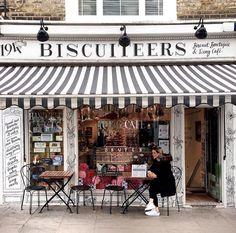 A London coffee shop. London Coffee Shop, Saturday Coffee, Pet Boutique, Boutique Ideas, European Destination, Shop Fronts, London Photos, London City, London Travel