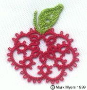 Apple Tatting Pattern, which I can turn into a pumpkin with orange Perle 8