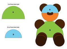 teddy bear cake cutout