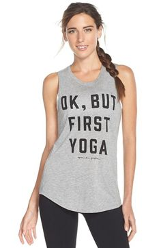 Free shipping and returns on Spiritual Gangster 'OK, But First Yoga' Tank at Nordstrom.com. Get your priorities straight in this supersoft, cotton-blend tank ideal for whether you're doing a down dog or just hanging out downtown.