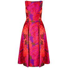 Buy Adrianna Papell Sleeveless Tea Length Dress, Magenta Online at johnlewis.com
