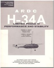 Sikorsky H-34 A  Helicopter  Performance and Stability Manual -  ARDC Report
