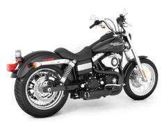 Vance & Hines Competition Series Exhaust (Black) - Harley Davidson FX Dyna Models newer) Harley Davidson Exhaust, Black Harley Davidson, Harley Dyna, Harley Davidson Bikes, Dyna Super Glide Sport, Dyna Wide Glide, Dyna Low Rider, Cool Bikes, Competition