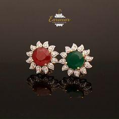 Diamond Stud Earrings Here is your chance to match your Jewellery with your attire, now shine in style. Bringing you the Diamond Earrings Indian, Gold Jhumka Earrings, Diamond Earing, Jewelry Design Earrings, Gold Earrings Designs, Ear Jewelry, Diamond Studs, Stud Earrings, Jewellery