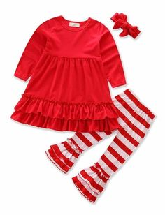 Candy Cane Red Toddler Christmas Set
