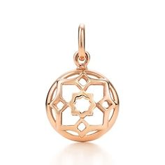 Paloma's Zellige charm in 18k rose gold.