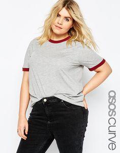ASOS CURVE Basic Cuff T-Shirt