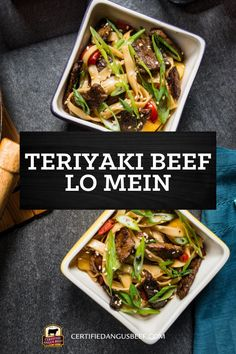 Pineapple-soy marinated steak strips is what sets this Teriyaki Beef Lo Mein above the rest. A delicious Asian noodle stir-fry skillet recipe to make for a weeknight meal. #bestangusbeef #certifiedangusbeef #beefrecipe #beef #teriyaki #lomein Easy Roast Beef Recipe, Beef Lo Mein Recipe, Roast Recipes, Best Beef Recipes, Beef Recipes For Dinner, Delicious Recipes, Favorite Recipes, Yummy Appetizers, Appetizer Recipes
