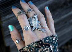 Sterling Silver Fish Ring Sterling Silver by DeerGirlDesigns