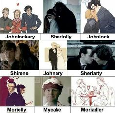 Johnary, Mycake, and still not sure if ship Sherlolly or Shirene more