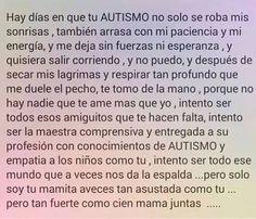 Los retos como madre de una persona con autismo son grandes pero las satisfacciones son mas grandes y maravillosas!!
