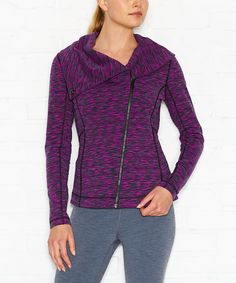 Love this lucy Neon Berry Space-Dye Hatha Jacket by lucy on #zulily! #zulilyfinds