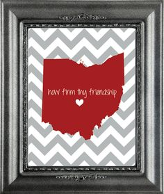 Ohio State 8x10 Print by EGallaDesign on Etsy