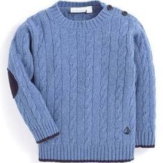 Cable Knit Jumper - Blue