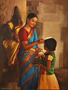 25 Beautiful Rural Indian Women Paintings by Tamilnadu artist ilayaraja Indian Women Painting, Indian Art Paintings, Indian Artist, Ravivarma Paintings, Watercolor Paintings, Tamil Girls, India Art, Painting Workshop, Traditional Paintings