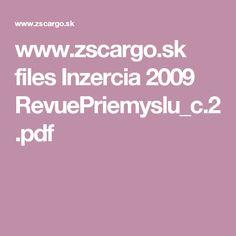 www.zscargo.sk files Inzercia 2009 RevuePriemyslu_c.2.pdf