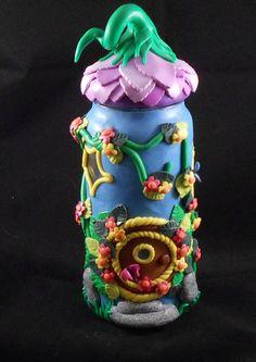 glass+jar+fairy+house+candle+holder
