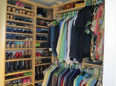 Custom closets and lots of storage in master closet