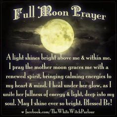 Full Moon Prayer   Witches Of The Craft®