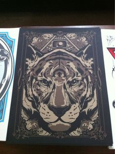 Eye of the Tiger silk screen print.. Limited Edition of 100 prints. Two colors on French Paper stock.