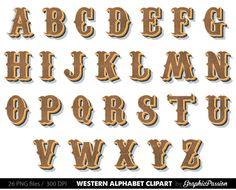 País occidental Digital alfabeto letras del por GraphicPassion