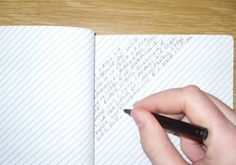 slant-ruled notebook...how clever