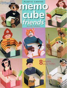 MEMO CUBE FRIENDS Plastic Canvas Pattern Book. $4.95, via Etsy.