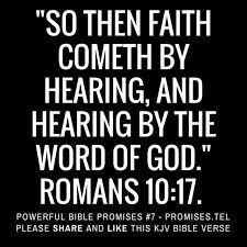 Romans 10:17 KJV