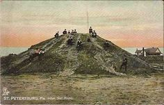 9 foot human skeletons removed from an ancient shell mound at St. Petersburg, Florida