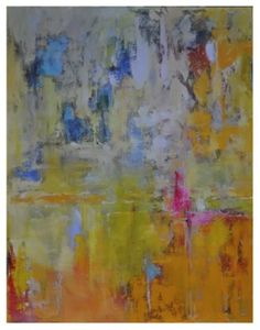 46'' X 58''  Variations of Yellow  oil on canvas