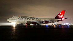 Night Flight - Virgin Atlantic B747-400 @SFO