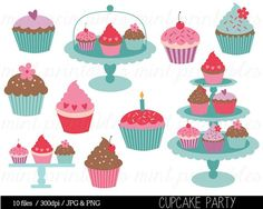 Various Sweet Cakes Set Clip Art Sweet Cakes Cake Sweet