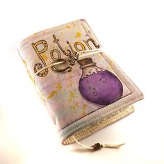 Journal Notebook Diary Painted Fabric Purple Potion by Kreativlink, $49.00