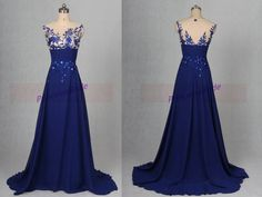Hey, I found this really awesome Etsy listing at https://www.etsy.com/listing/242949397/long-chiffon-prom-dresses-2016-royal