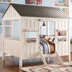 donco kids tree house twin low loft bed & reviews | wayfair | hank