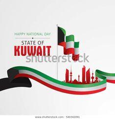 Ilustración vectorial de la celebración del Día Nacional de Kuwait. Happy National Day, National Holidays, Kuwait National Day, Air Show, Illustration, Celebrities, Media Marketing, Plays, Royalty