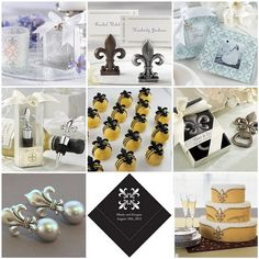 Fleur de Lis Wedding Decorations by soo12, via Flickr