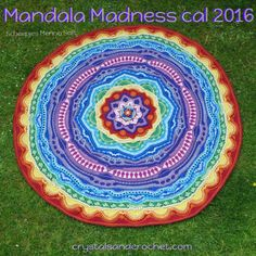 Mandala Madness crochet a-long cal Rainbow