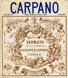 vintage carpano vermuth label