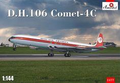 de Havilland D.H.106 Comet 4C, Dan Air London. A Model, 1/144, injection, No.1477. Price: ?.