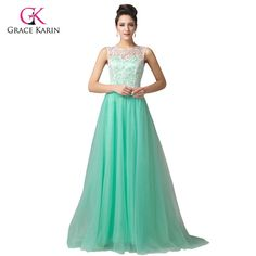 Green Yellow Lace Long Evening Dresses Sleeveless elegant prom Formal Gowns $66.42 => Save up to 60% and Free Shipping => Order Now! #fashion #woman #shop #diy www.weddress.net/...