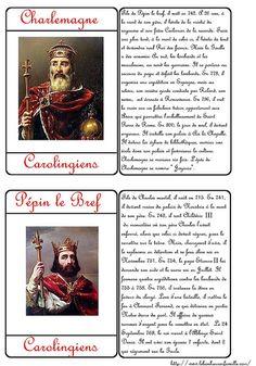 Le bonheur en famille: Cartes des rois Pépin le Bref et Charlemagne…