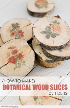 How-To Make Botanical Wood Slices - Tidbits na Stylowi.pl