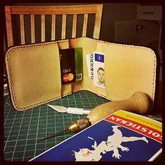 DIY wallet leatherwork