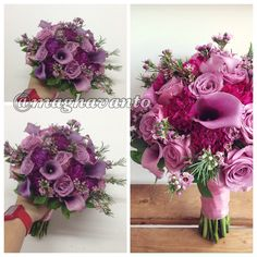 Lilacs color pallet.... For romantic bridal bouquet.... Find another inspiration at IG @maghavanto