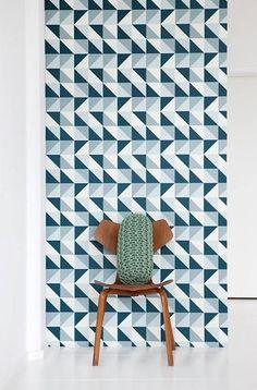 Ferm Living Remix blue wallpaper