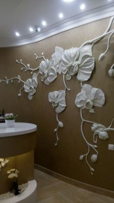 Beautiful Wall Art o want to do this with plaster images about Home Arts - Walls How to forge that? Maybe something like this in Hannah's room? Plaster Art, Plaster Walls, Plaster Crafts, Wall Sculptures, Sculpture Art, Wall Design, House Design, Beautiful Wall, Wall Treatments