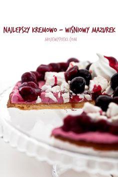 Mazurek cherry 'last minute'  with creamy mascarpone and cherry meringue frużeliną